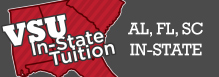 VSU now offers In-State Tuition to Residents of Alabama, Florida and South Carolina!